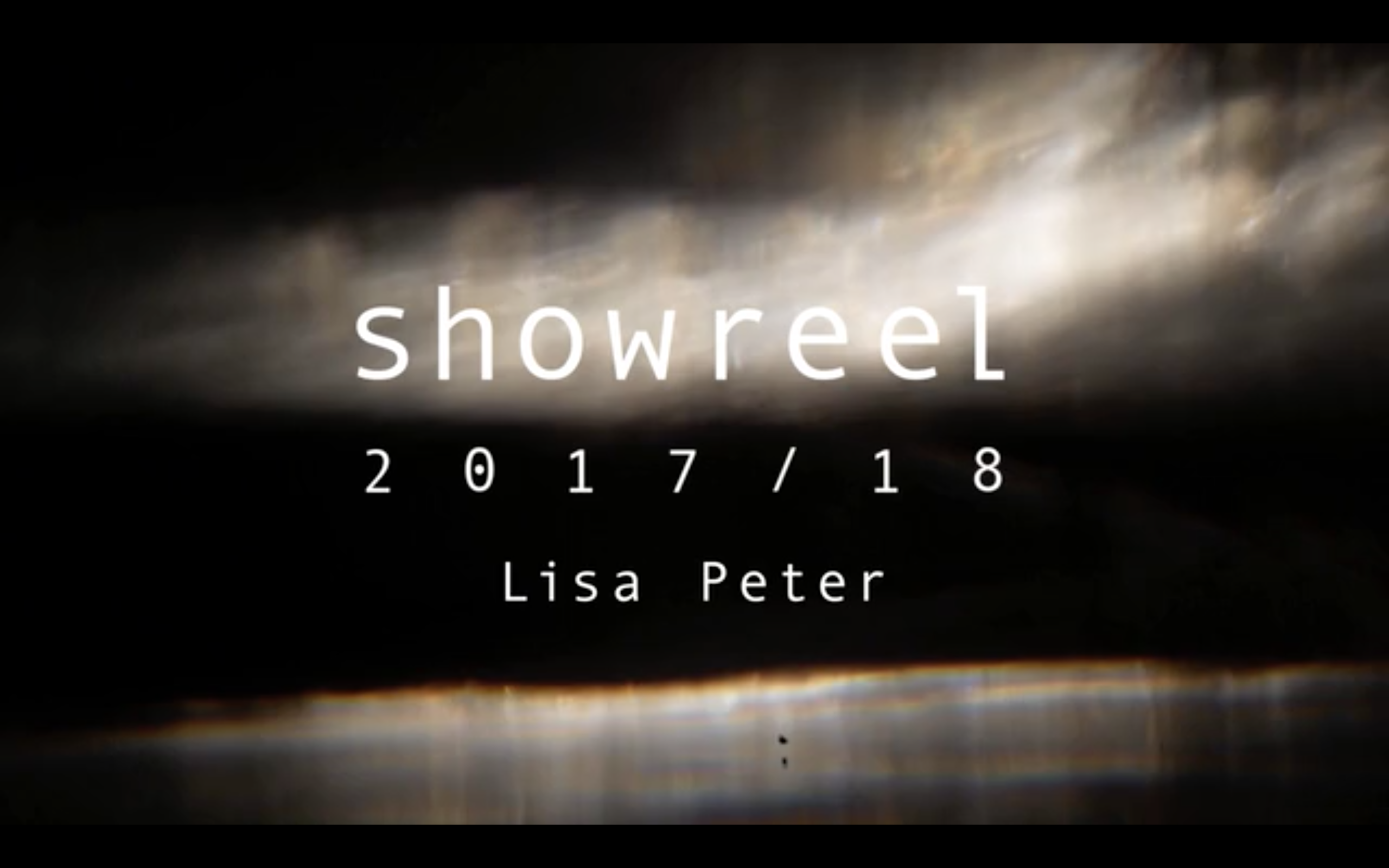 showreel lisa peter